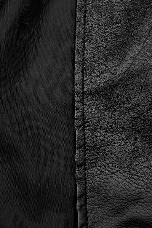 Černá motorkářská bunda