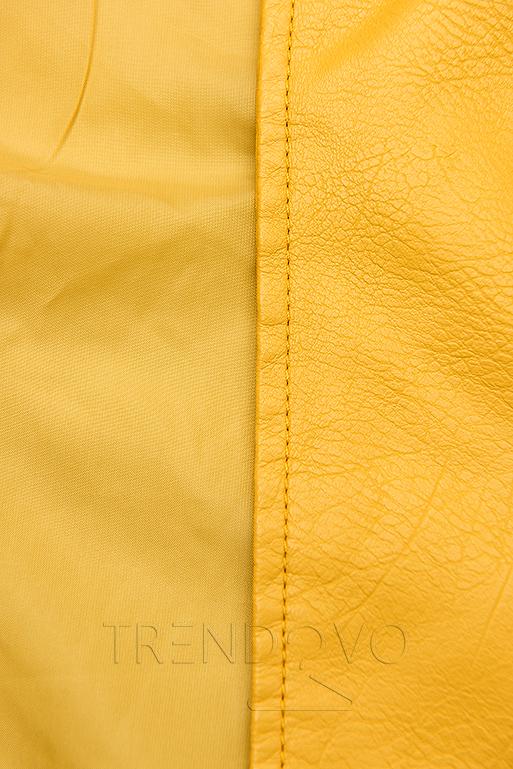Žlutá motorkářská bunda