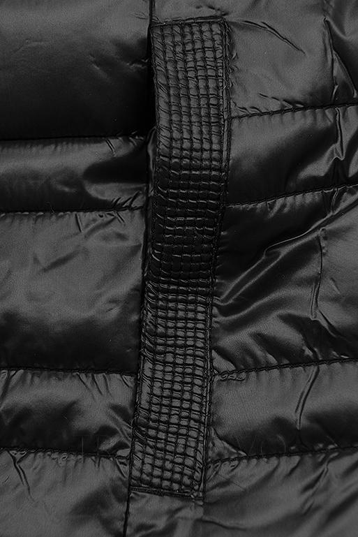 Černá krátká oboustranná bunda