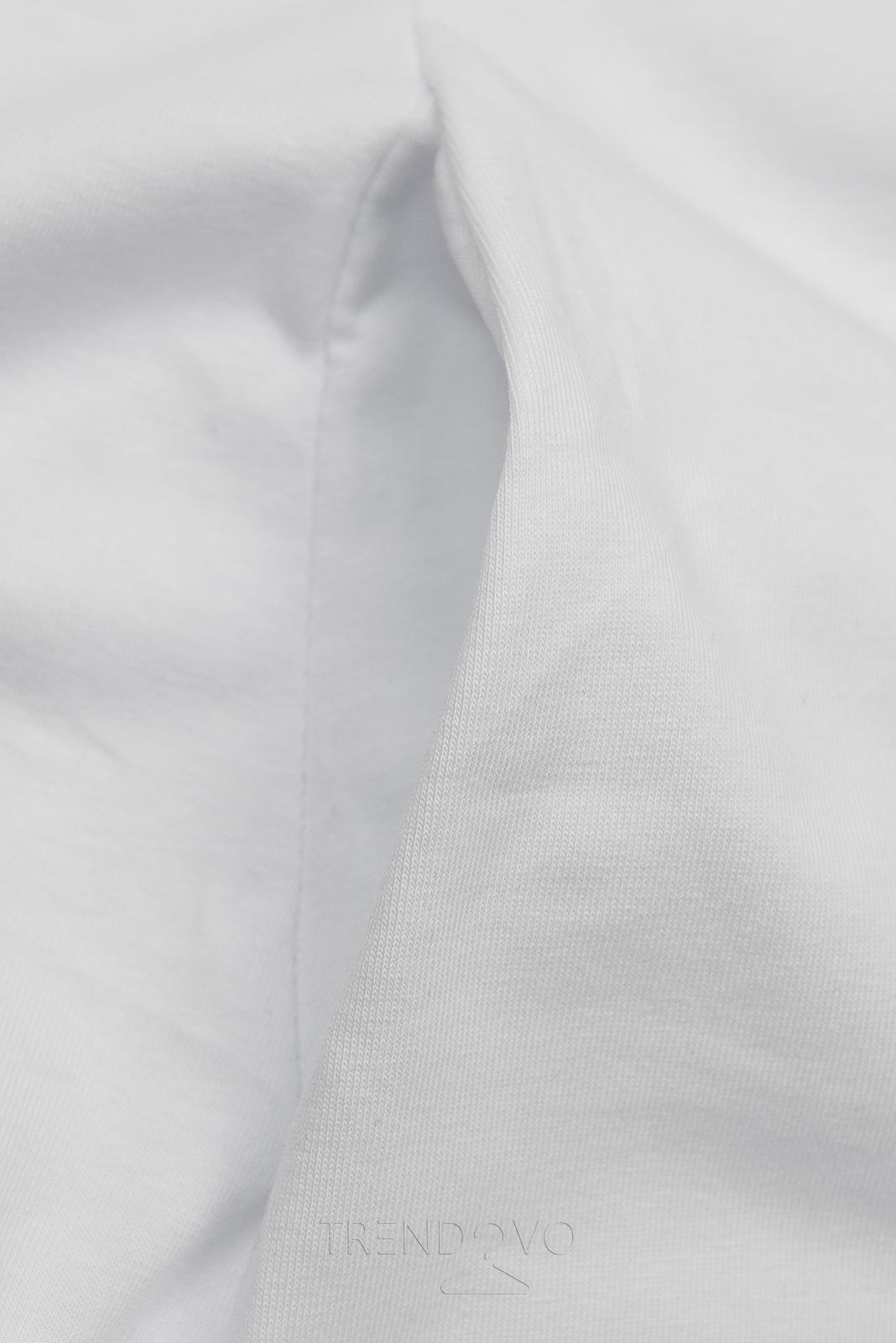 Bílé šaty s motivem tenisek