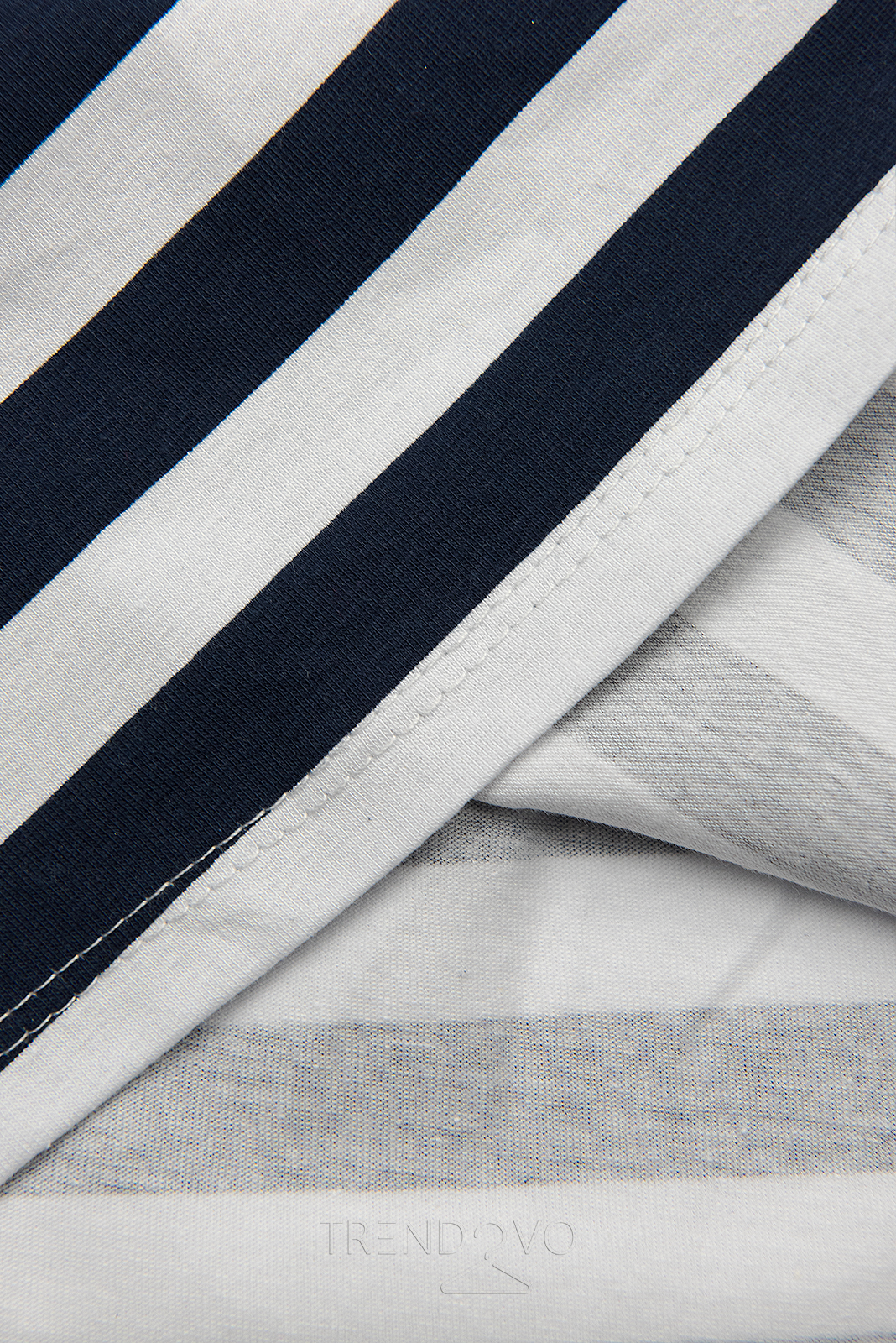 Modro-bílé pruhované šaty I.