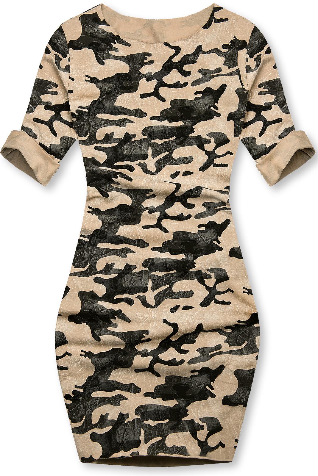 Hnědé ležérní army šaty