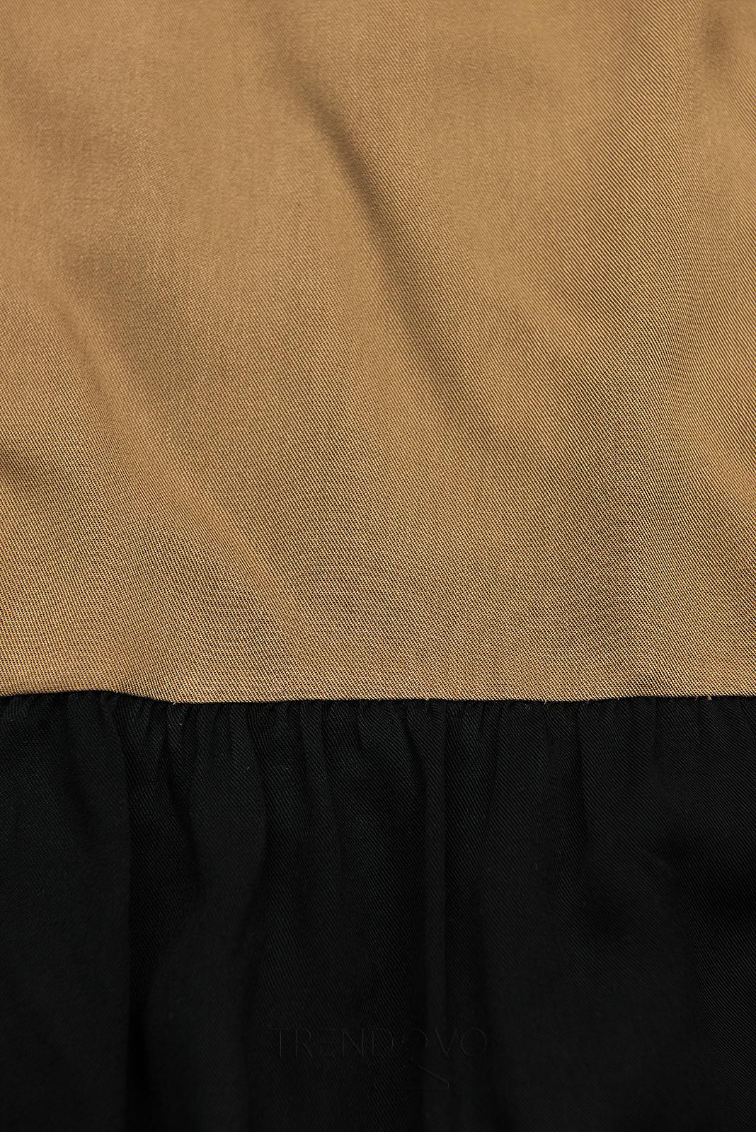 Letní šaty z viskózy bílá/hnědá/černá