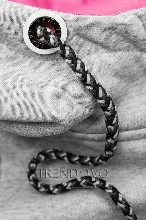 Souprava se vzorovanými rukávy šedá/černá