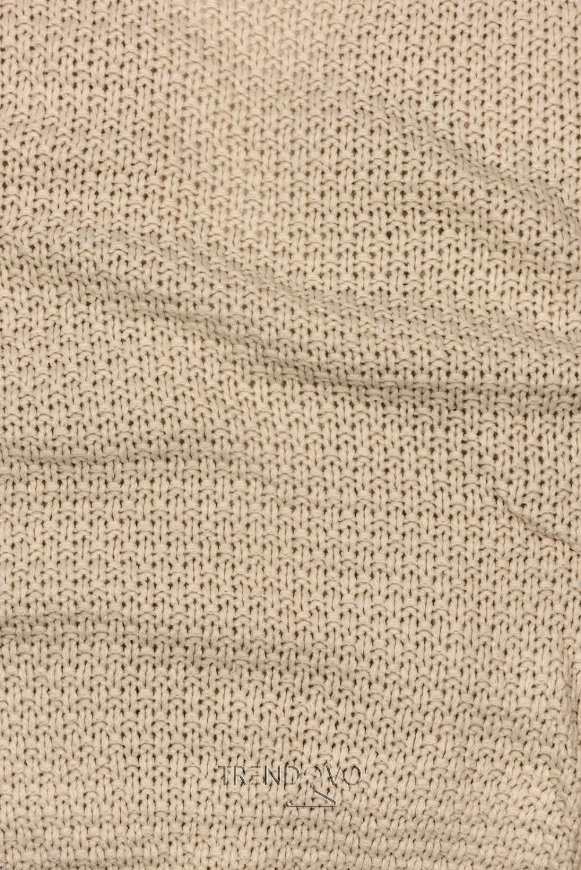 Béžový krátký kardigan