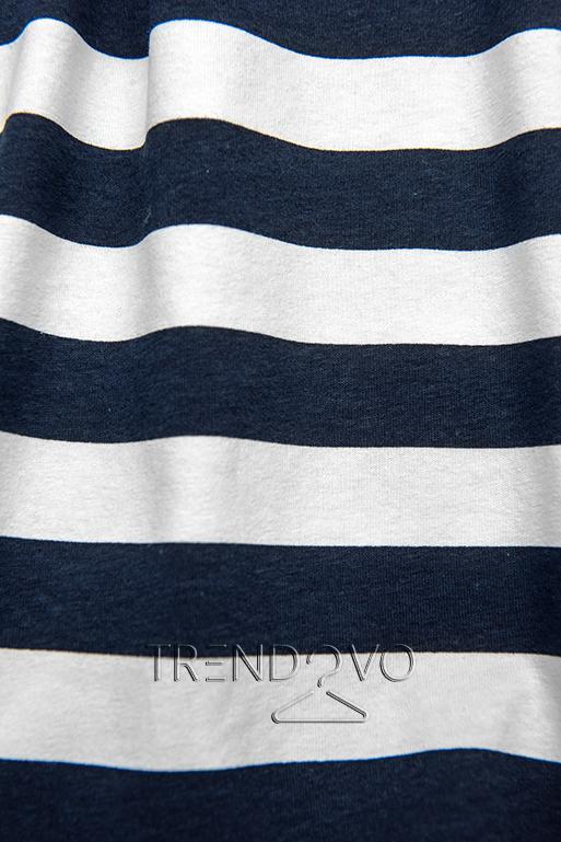 Modro-bílé volné pruhované šaty I.