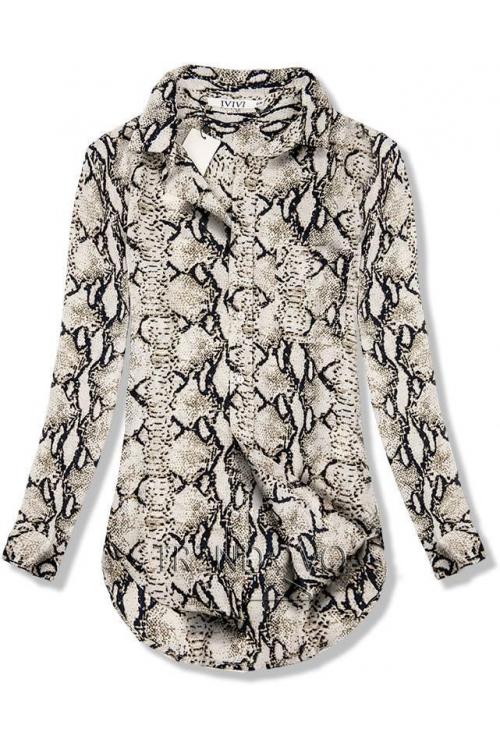 Béžová košile se zvířecím vzorem