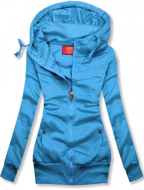 Modrá melírovaná mikina