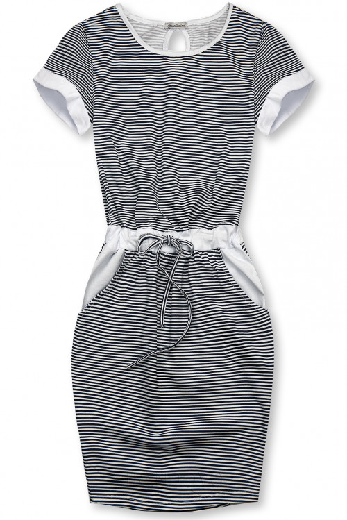 Modro-bílé pruhované šaty IV.