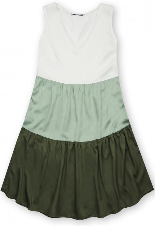 Letní šaty z viskózy bílá/mátová/zelená