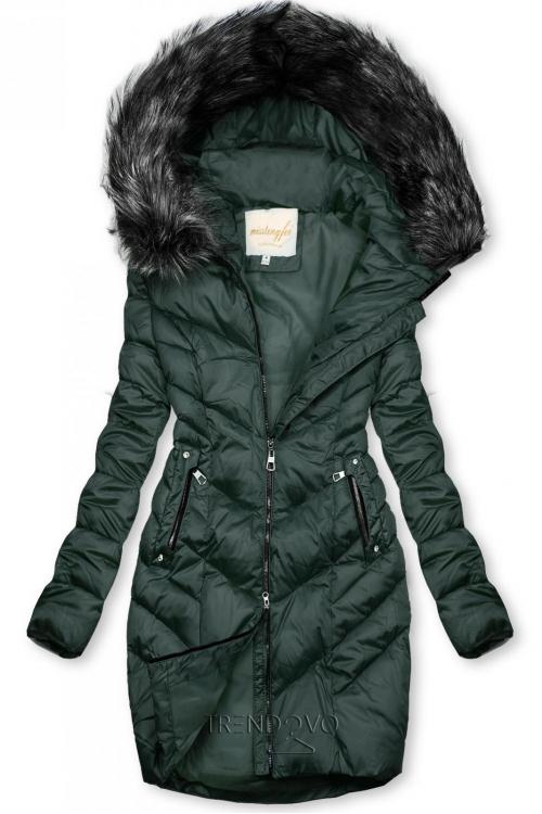 Prešívaná zimná bunda zelená