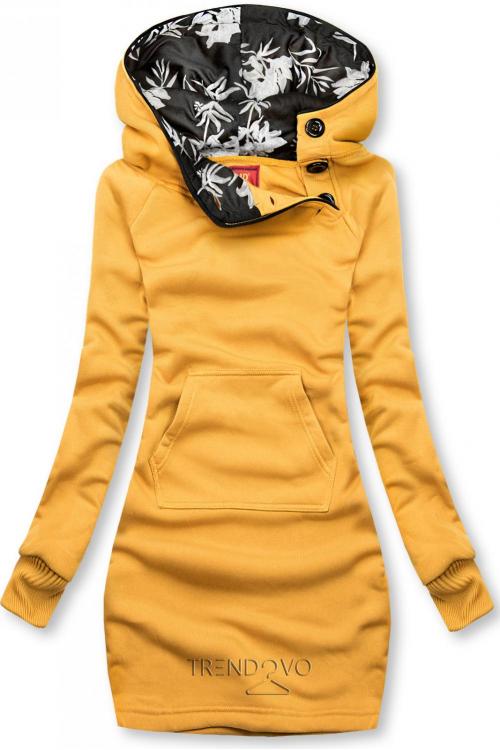 Žlutá mikina s oblékáním přes hlavu