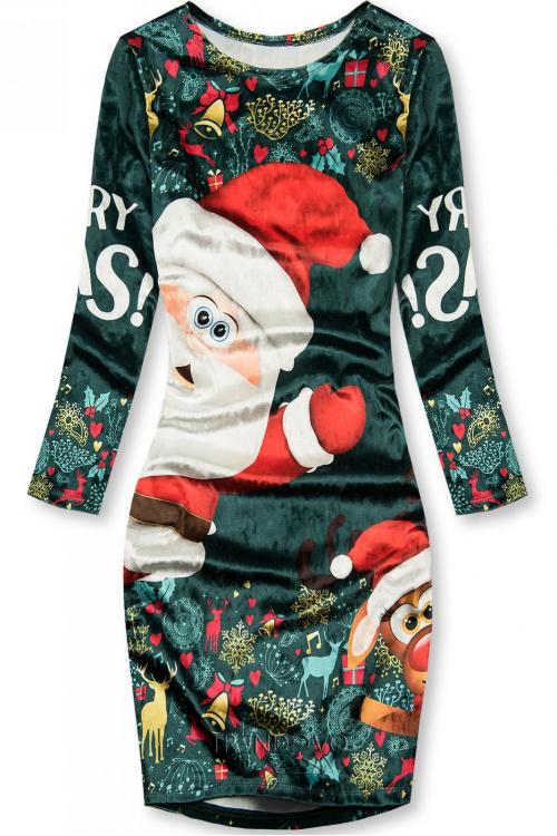 Zelené šaty Christmas