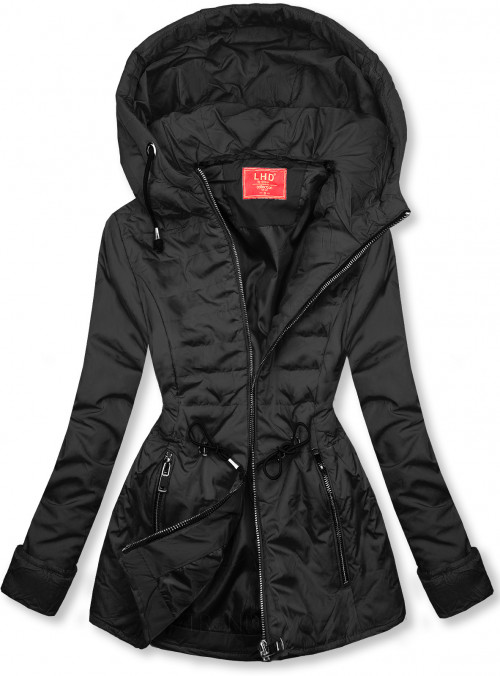 Černá prošívaná lehká bunda