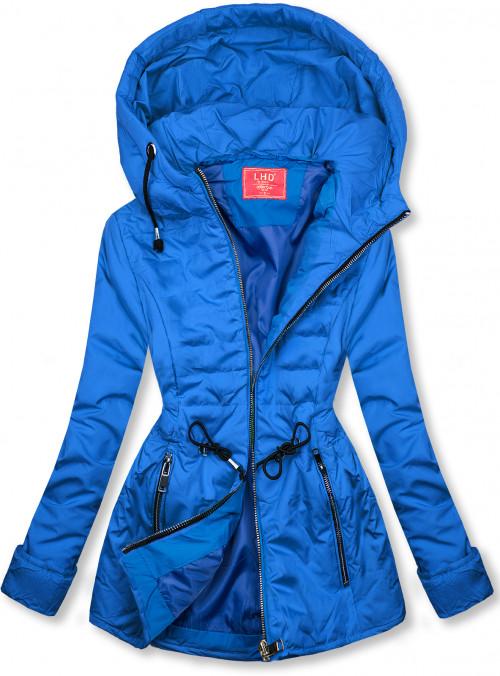 Kobaltově modrá prošívaná lehká bunda