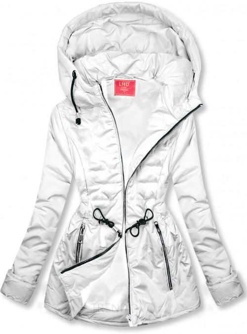 Bílá prošívaná lehká bunda