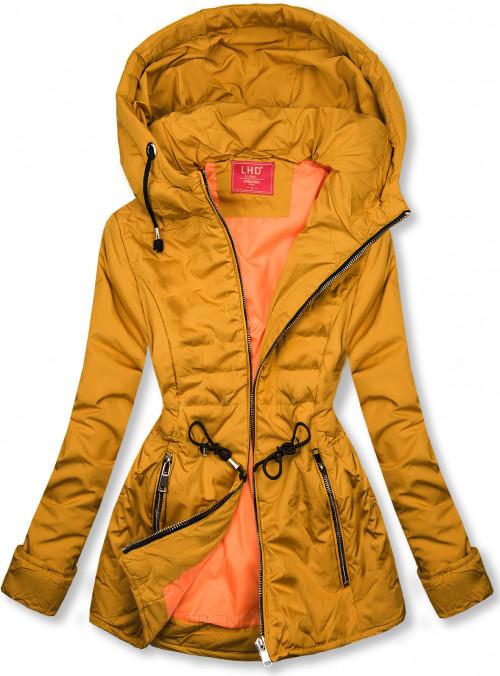 Hořčicově žlutá prošívaná lehká bunda