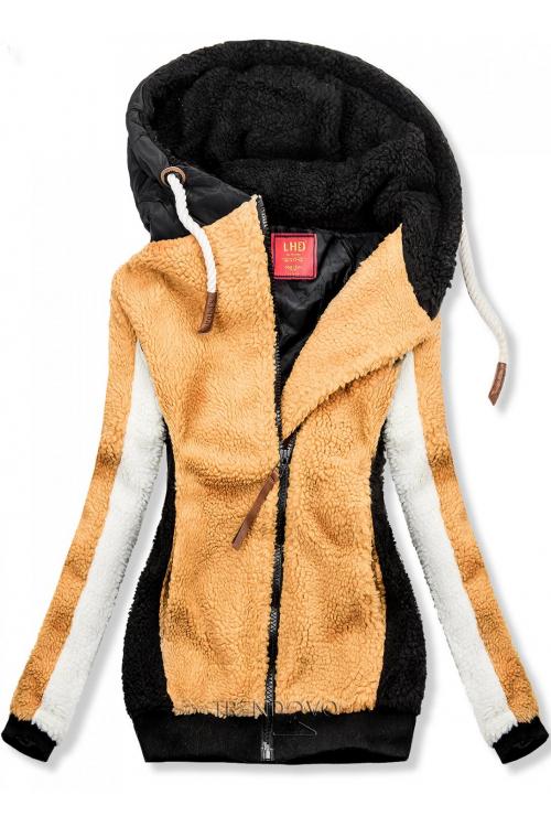 Žluto-černá zimní mikina