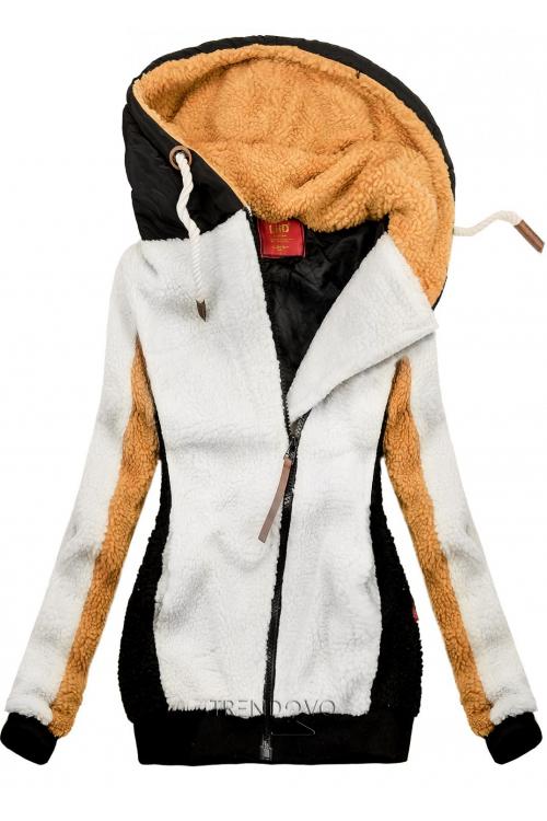 Bílo-černá zimní mikina