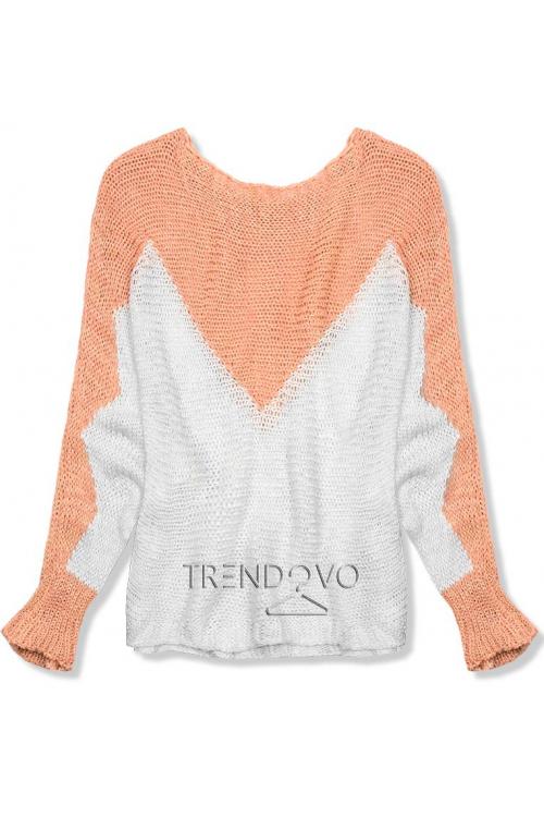 Meruňkový pulovr s netopýřími rukávy