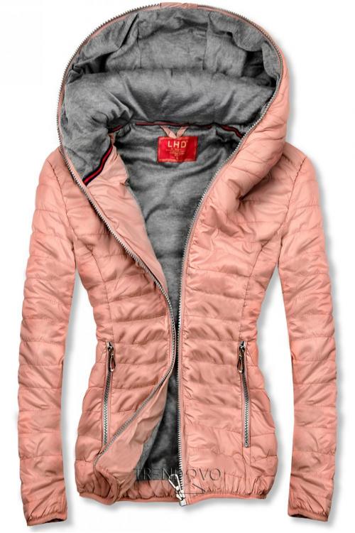 Růžová sportovní bunda