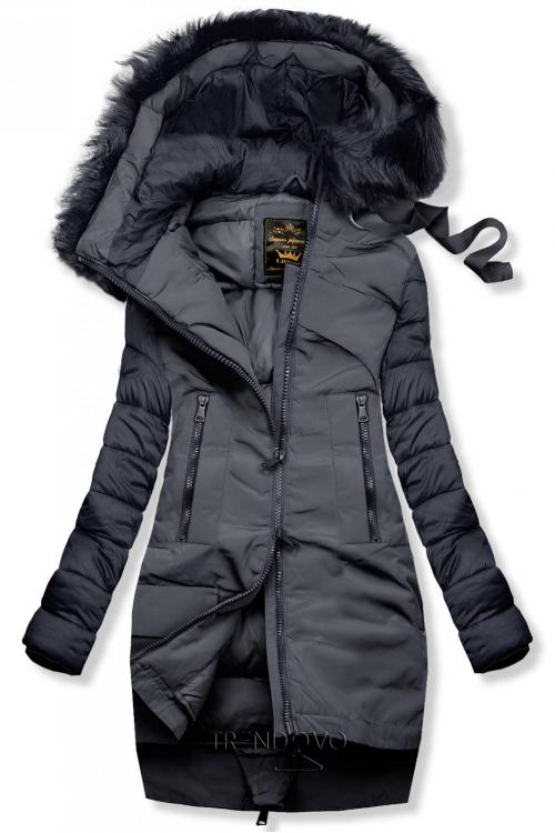 Zimní prošívaná bunda tmavě modrá