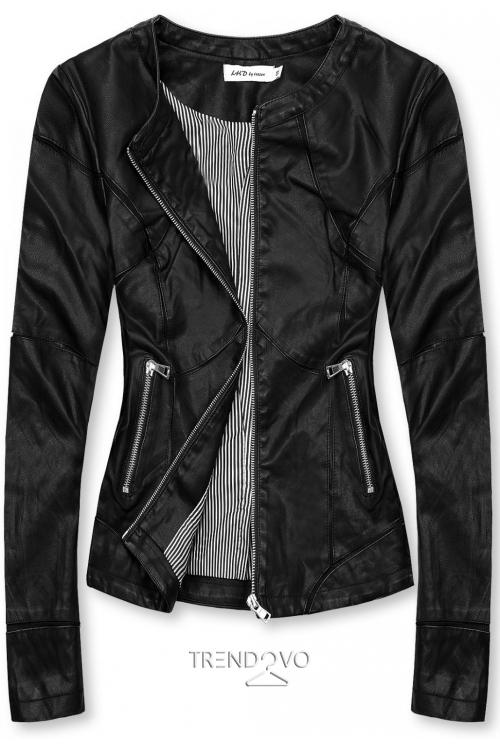 Basic koženka v černé barvě