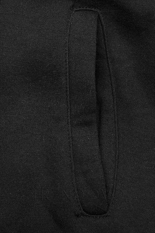 Černá mikina v asymetrickém střihu