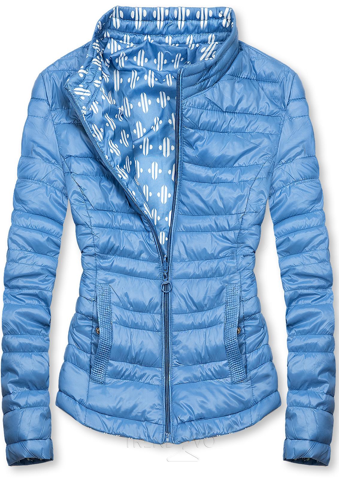 Modrá krátká oboustranná bunda