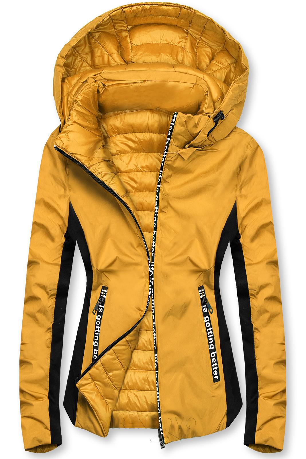 Žlutá sportovní oboustranná bunda