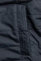 Přechodná parka oboustranná khaki/modrá