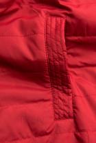 Přechodná parka oboustranná černá/červená