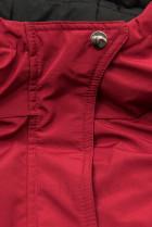 Oboustranná bunda se stahováním červená/černá