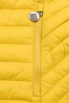 Žlutá prošívaná přechodná bunda