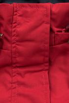 Přechodná parka oboustranná červená/modrá