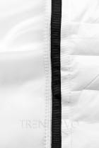 Bílá prošívaná lesklá bunda