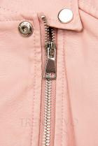 Růžová motorkářská bunda