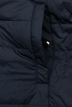 Oboustranná bunda se stahováním béžová/modrá