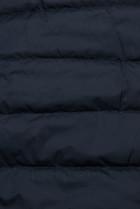 Oboustranná bunda se stahováním tmavě modrá