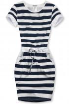 Modro-bílé pruhované šaty X.