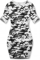 Bílé ležérní army šaty