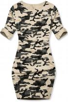 Vanilkové ležérní army šaty