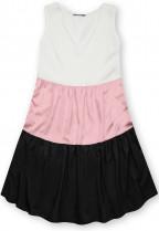 Letní šaty z viskózy bílá/růžová/černá