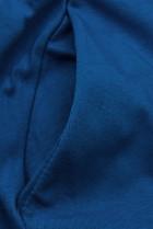 Jeans modré šaty s nášivkou SUMMER