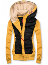 Žluto/černá krátká kombinovaná mikina