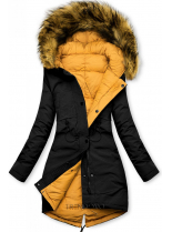 Černo-žlutá oboustranná zimní bunda