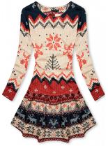 Vzorované šaty s motivem sobů