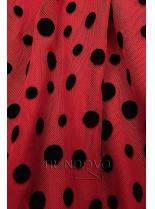 Červené šaty s puntíky