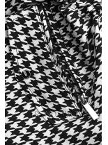 Přechodná parka s pepito vzorem/černá