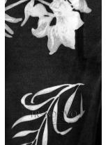 Souprava se vzorovanými rukávy meruňková/grafitová